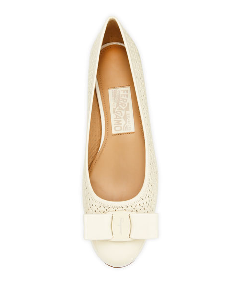 Varina Perforated Ballerina Flat