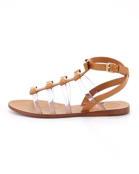 Kira Gladiator Bow Sandal, Custom Tan
