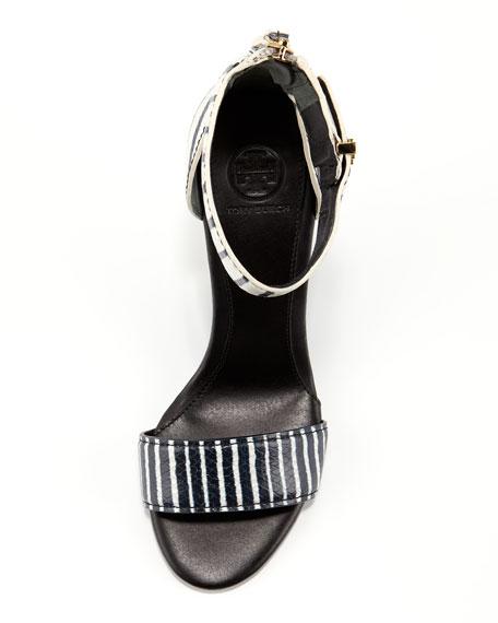 Carolyn Snake-Print Wedge Sandal