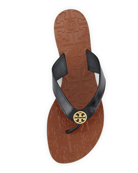 Thora 2 Patent Thong Sandal, Bright Navy