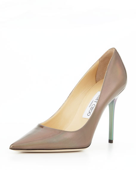 Abel Point-Toe Iridescent Pump, Multicolor