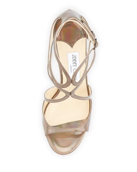 Ivette Iridescent Crisscross Sandal, Multicolor