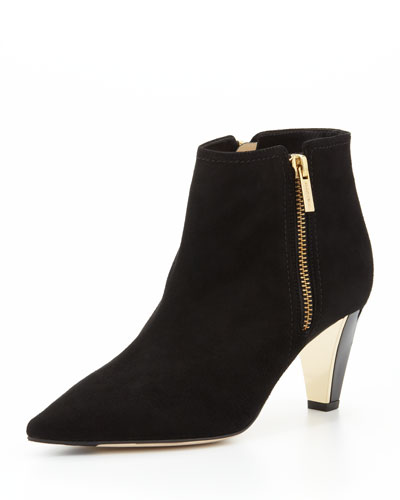 Jimmy Choo Lowry Suede Ankle Boot, Black