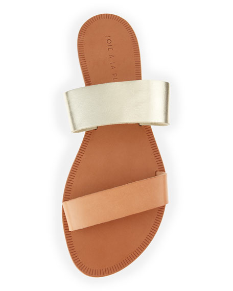 Sable Double-Strap Sandal, Platinum/Natural