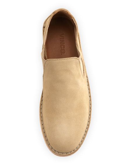 Mia Flat Suede Slip-On, Taupe