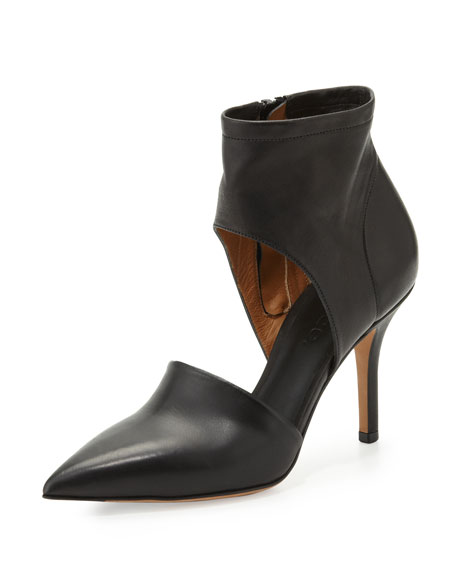 Cristina Ankle Wrap Pump, Black