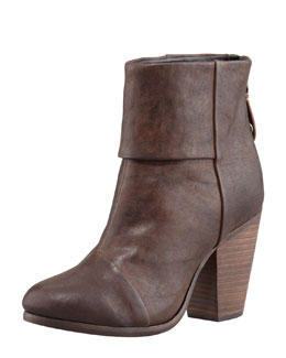 Rag & Bone Classic Newbury Leather Bootie, Deep Brown