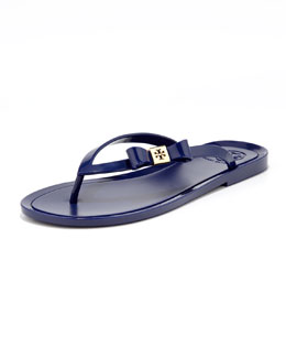 Tory Burch Michaela Bow Jelly Thong Sandal, Ultramarine