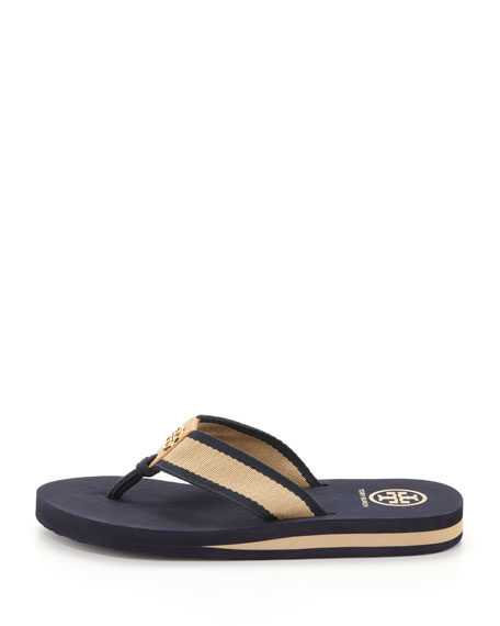 Ray Rubber  Flip-Flop, Navy/Honey