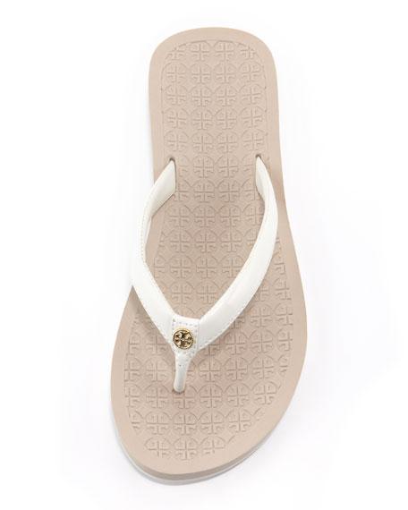 Brock Patent Flip-Flop, Ivory