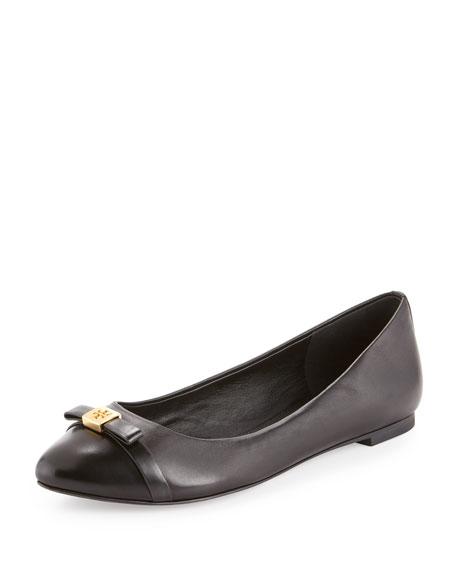 Hugo Cap-Toe Ballerina Flat, Black