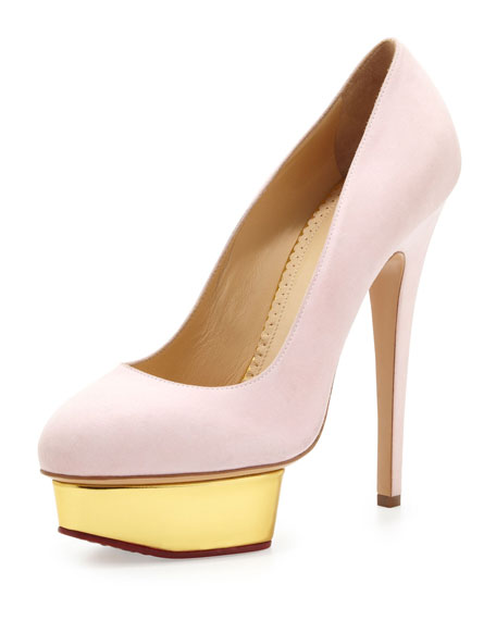 Charlotte Olympia Sweet Dolly Pump with Candy Anklet