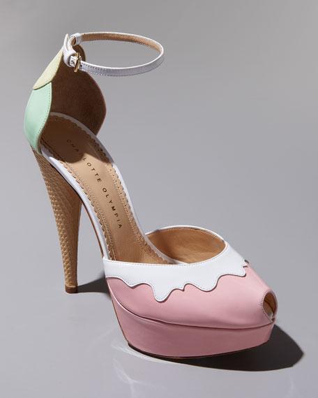 Charlotte Olympia Ice Cream Cone-Heel d'Orsay Pump, Pastel