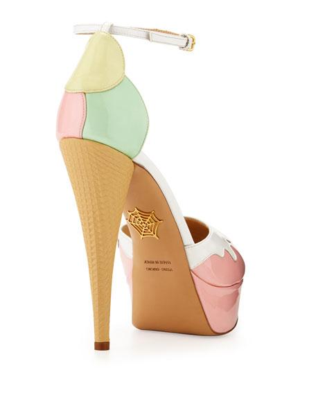 Ice Cream Cone-Heel d'Orsay Pump, Pastel