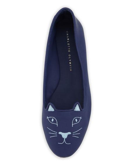 Capri Cat-Face Rubber Flat, Varsity Blue
