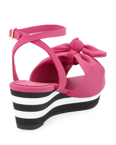 Alexa Rubber Wedge Sandal, Bubblegum