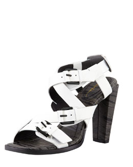 3.1 Phillip Lim Ada Strappy High-Heel Sandal, White