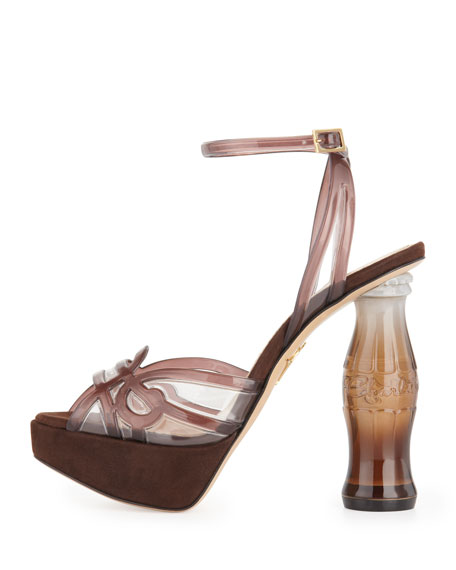 Soda Bottle-Heel Platform Sandal