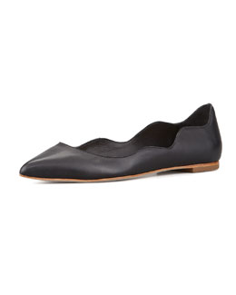 Loeffler Randall Milla Scalloped Point-Toe Flat