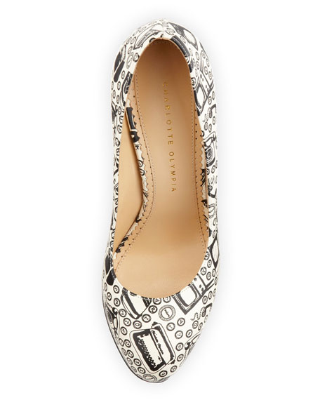 Jennifer Appliance-Print Platform Pump
