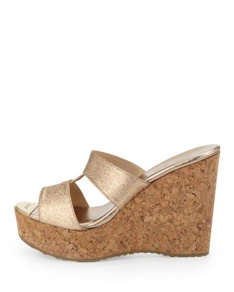 Porter Glitter Wedge Sandal