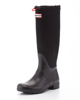 Hunter Boot Original Tour Packable Welly Boot, Black