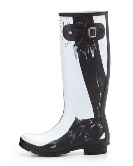 Original Nightfall Welly Boot, Black/White
