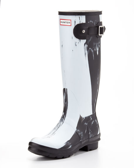 Original Nightfall Welly Boot, Black/White