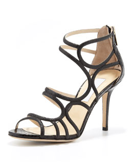 Jimmy Choo Summit Glittered Strappy Sandal