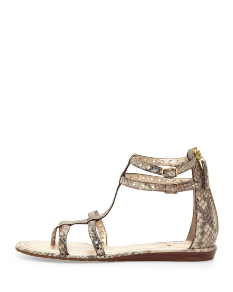Kate spade new york adagio snake print flat thong sandal for Adagio new york