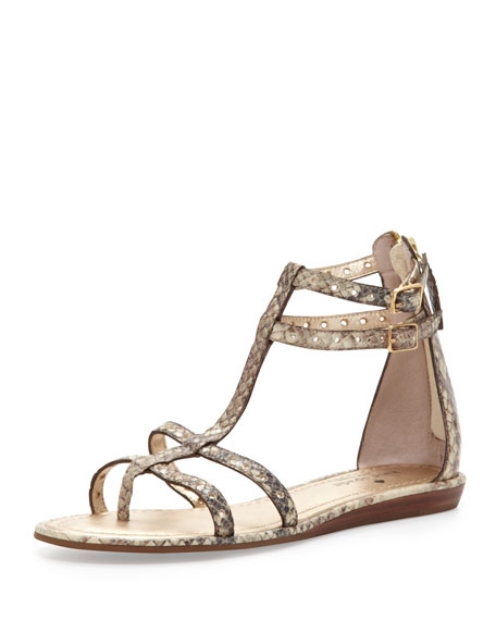 adagio snake-print flat thong sandal