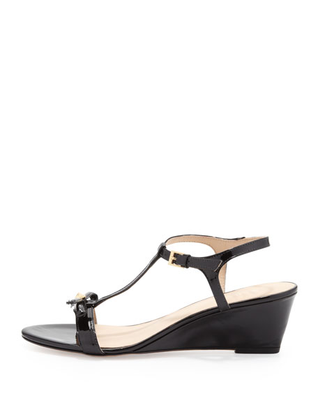 b5358b05638 kate spade new york donna patent t-strap wedge sandal