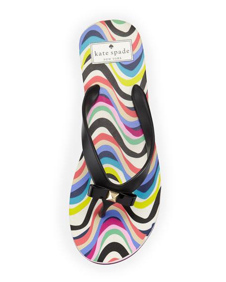 fiji rubber flip-flop, black