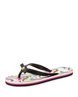 kate spade new york fiji rubber flip-flop, black