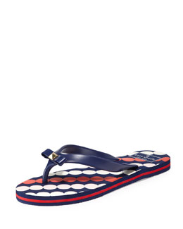 kate spade new york fiji rubber flip-flop, french navy