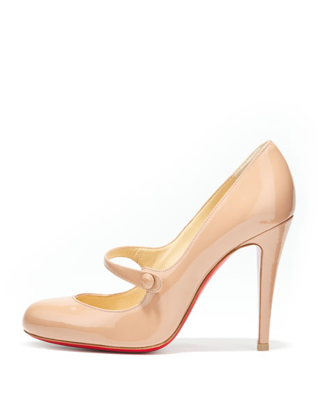 Charlene Mary Jane Red Sole Pump