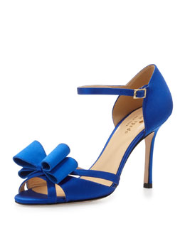 kate spade new york ivela satin bow ankle-strap sandal