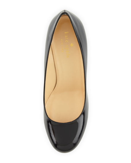 karolina heel-detail pump, navy