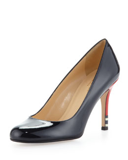 kate spade new york karolina heel-detail pump, navy