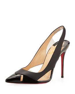 Christian Louboutin Air Chance Peekaboo Slingback Red Sole Pump