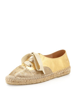kate spade new york lina metallic espadrille sneaker