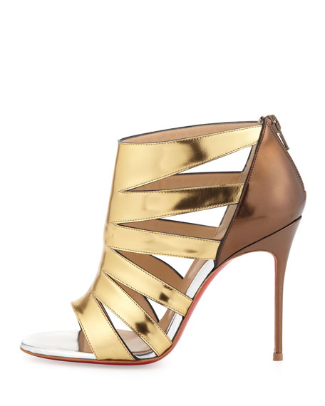 Beauty K Metallic Cage Red Sole Sandal