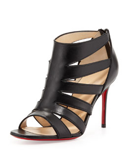 Christian Louboutin Beauty K Red-Sole Cage Sandal, Black
