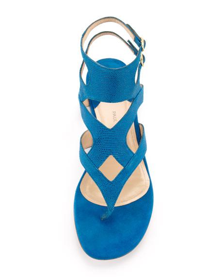 Sahara Double-Strap Thong Sandal, Royal Blue
