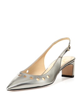 kate spade new york stephany metallic slingback, aluminum