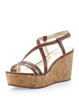 kate spade new york tender crisscross cork platform wedge