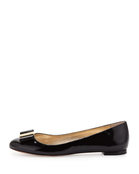 thyme patent bow flat, black