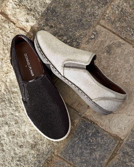 Maya Beaded Slip-On Sneaker, Black