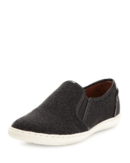 Donald J Pliner Maya Beaded Slip-On Sneaker, Black