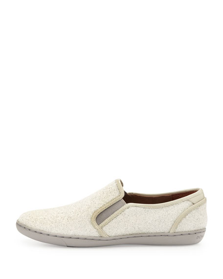 Maya Beaded Slip-On Sneaker, White